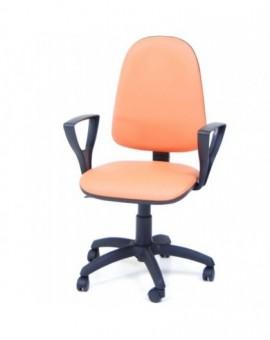 Poltroncina girevole per ufficio seduta interna in faggio imbottita Sky arancio