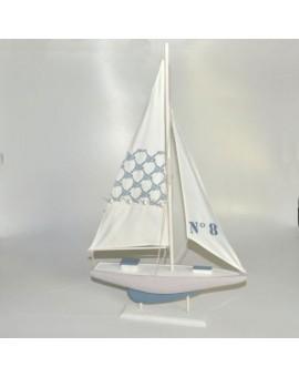 Barca a vela addobbo nave nautica arredo casa mare nave grande misura 29,5X18H3